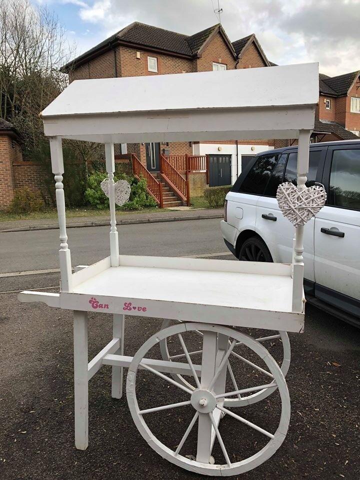 White Wooden Sweet Cart For Wedding Receptions Parties Etc In Uxbridge London Gumtree