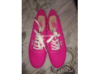 Ladies pink vans size 7