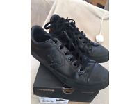 Converse Star Player Ox All Black Leather Junior