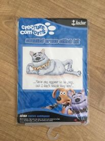 Creature Comforts Counted Cross Stitch Kit – CC103 Captain Cuddlepuss