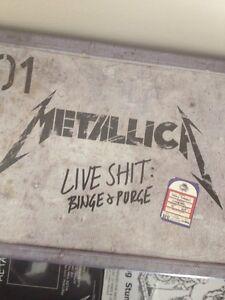 Metallica cd/DVDs memorabilia collection Banyo Brisbane North East Preview