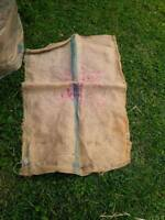 2x3 Burlap bags and 6 foot pieces for sale