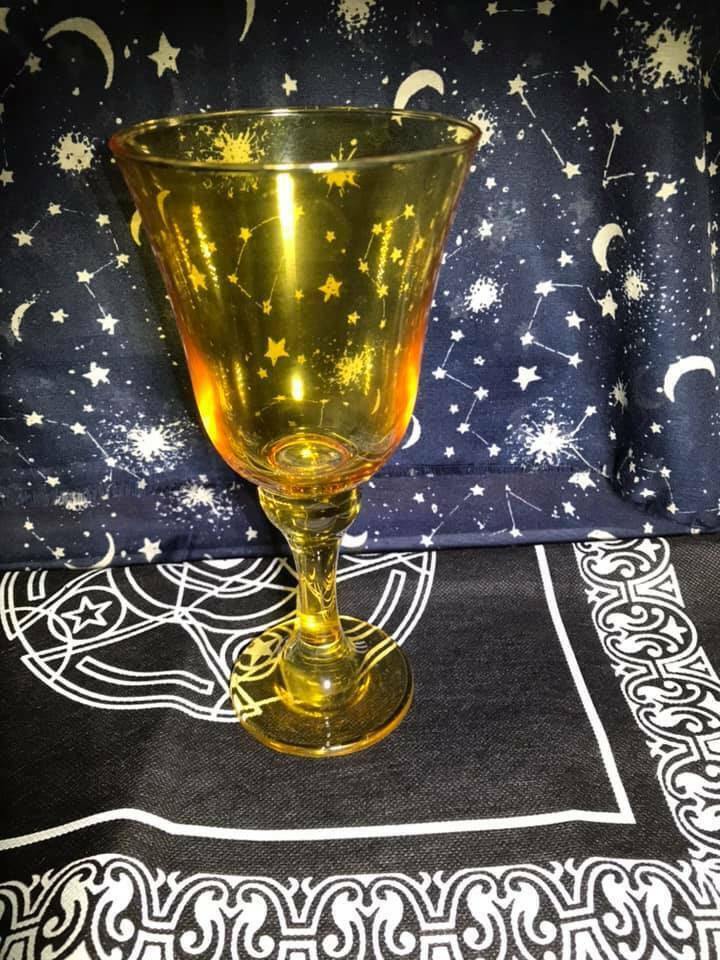 Altar Chalice Goblet Glass Pagan Wiccan Witchcraft