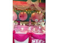 Beautiful princess pretty in pink candy cart for hire speciel july offer sheffield