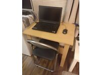 Desk and Foldable Chair