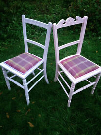 2x Pastel hand painted French style wooden chairs, Upcycled/Shabby chic,Price each