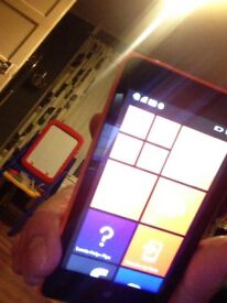nokia lumia mobile phone with charger