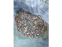 Decorative pebbles for sale £1.50 per bag 25 - 30 Kg , half price of shops