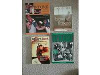 Boxing training and fitness books as new.