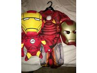 BOYS USED 5-6 YEARS IRON MAN COSTUME / VOICE CHANGER / TALKING TEDDY £15