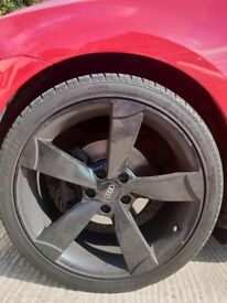 "19"" black alloys - Audi TTRS alloys- fit Volkswagen / Seat / Audi"