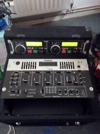 pro sound DJ mixer CD player 1500 power amplifier