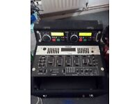pro sound DJ mixer CD player 1500 power amplifier