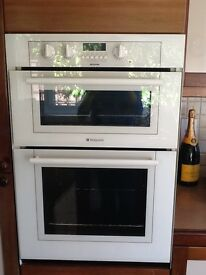 White Hotpoint double electric oven