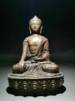 """Details about  /Buddha Statue Large Brass tibet Buddhism Thai Shakyamuni Antiuqe Finish 17/"""""""