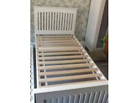 Relyon Juno Guest Bed solid wood white shaker style with 2 coil Spring mattresses