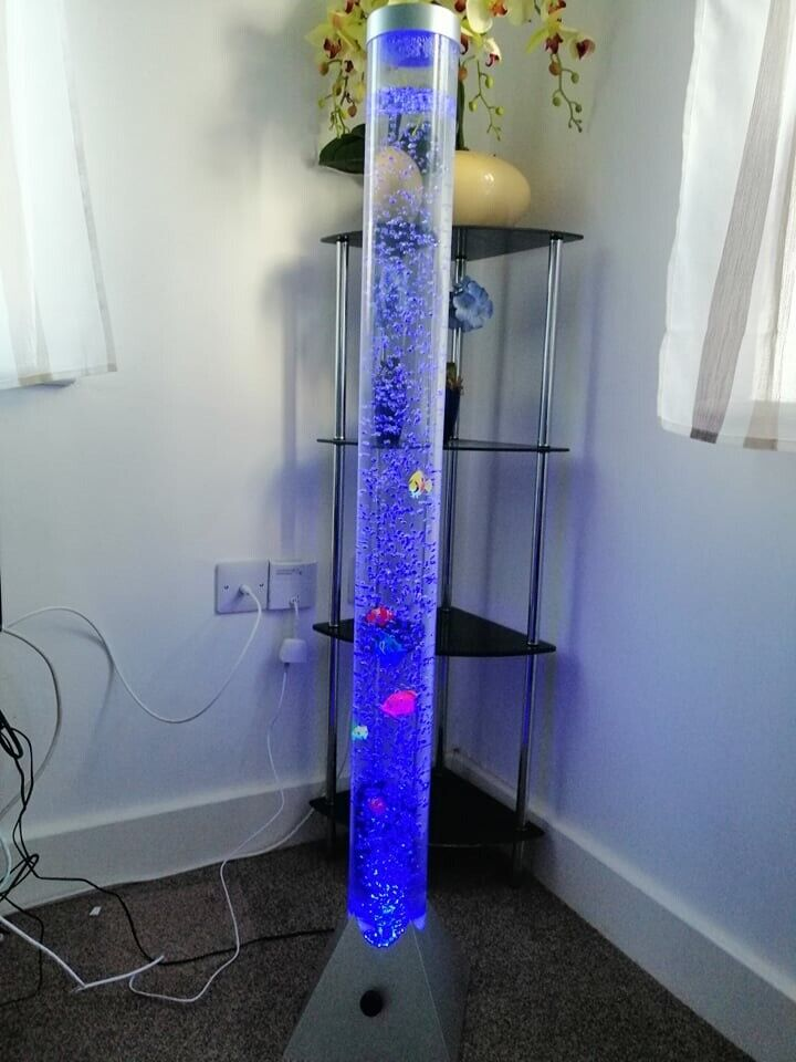 low priced 3f6c4 2c8e0 90cm Colour Changing LED Mood Bubble Tower Lamp Fish Water Tube Floor  Standing Lamp Light (cheap) | in Spalding, Lincolnshire | Gumtree