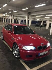 BMW M3 E46 2004 COUPE RED FACELIFT SMG 2 RED LEATHER FBMWSH 1 OWNER FULLY LOADED TOP SPEC