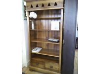 Beautiful solid wood BOOKCASE with DRAWERS.