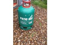 Empty Patio Gas Bottle.