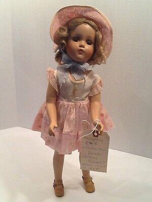 "Vintage 1930s Arranbee Nancy Lee composition doll 17"" Vintage Dress Sweet Face!"