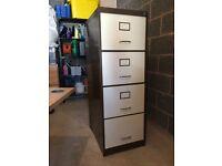Filing Cabinet - 4 Drawer Metal Lockable