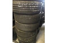 215/55/18 quality part worn tyre