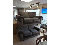 2+2 seater tangents brown sofas