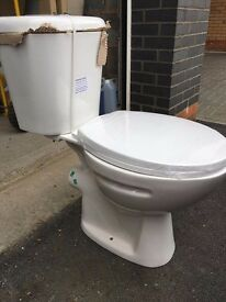 Toilet, Close Coupled WC Pan And Cistern and soft close seat, Boxed - SALE ENDS THIS WEEK