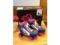 Christmas! Retro Rio roller skates for boy girl ladies gents. Size 6/7. Like new