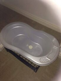 used very good condition white baby bath has been used once