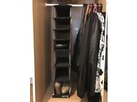 Hanging canvas shoe rack (9 pairs): £5