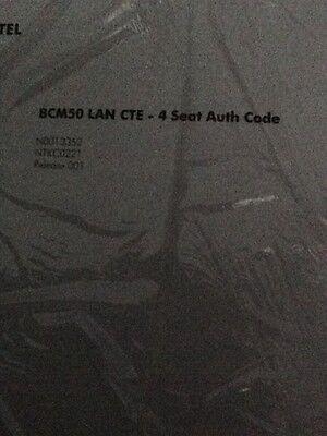Nortel Bcm 50 Lan Cte - 4 Seat Authorization Key-code License - Ntkc0221