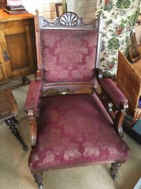 Victorian walnut arm chair