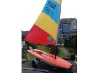 Topper Sailing Dinghy with Road Trailer & Launch Trolley