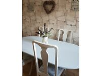 lovely table and chairs shabby chic