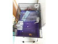 Nearly new hamster cage