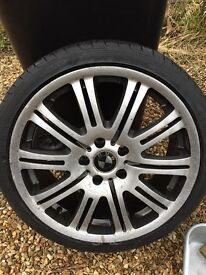 """Bmw 5x120 19"""" m3 style alloys e46 3 series no cracks or buckles with tyres"""