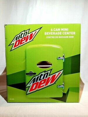 MOUNTAIN DEW Mini Fridge 6 Cans Refrigerator New BEVERAGE CENTER