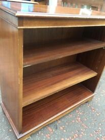 Mahogany bookcase/storage shelves for sale