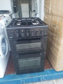 Black 'Teknix' Gas Cooker - Excellent Condition / Free local delivery