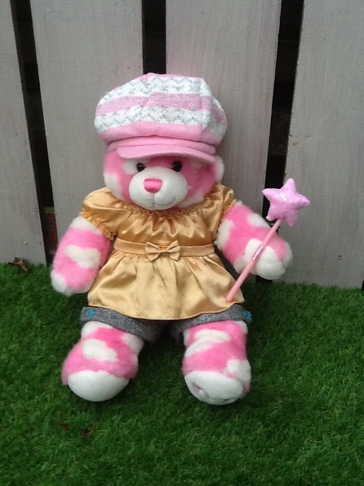 Pink & White Love Heart Build a Bear with Clothes