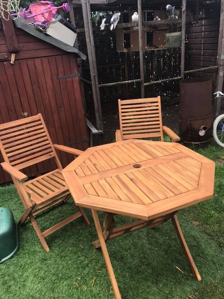 Tremendous Brand New Hexagon Solid Wood Table And 2 Chairs In Batley West Yorkshire Gumtree Pdpeps Interior Chair Design Pdpepsorg