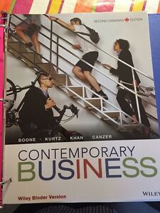 Contemporary Business 2nd Canadian edition