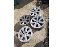 "vw 17"" bbs westwood alloys 5x112 split rims"