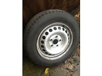 vw transporter t5 steel wheels and 205/65/16 commercial tyres £20 each