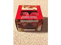 Job Lot 6x Boxes of Yankee Candle Tea Lights. Each a box of 12. Festive Scents. New and Unused.