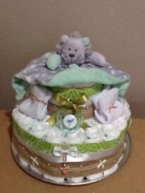 Handcrafted Nappy Cake Boy or Girl Gift/Baby Shower Gift.