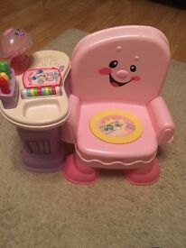 Fisher price laugh n learn pink chair