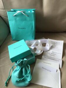 Authentic Brand New Tiffany Cufflinks w Gift Receipt